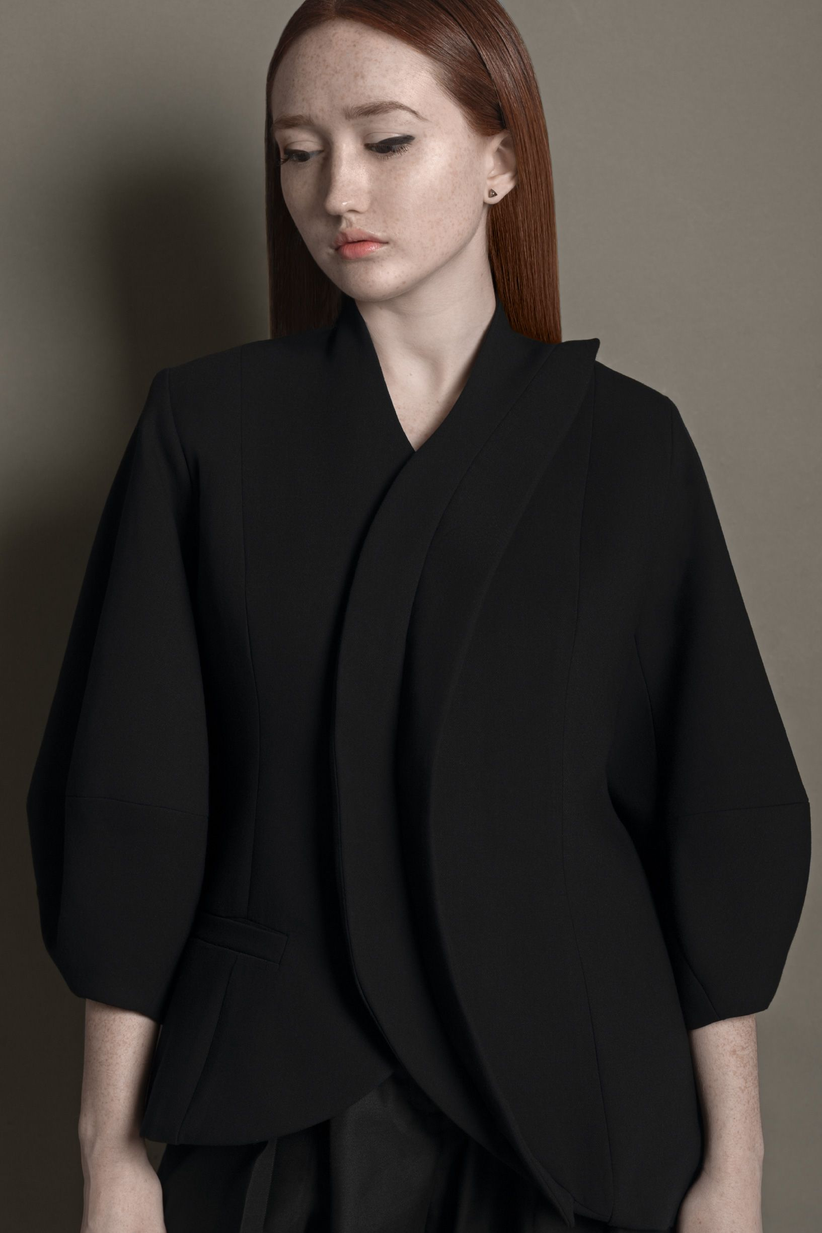 asymmetric design jacket